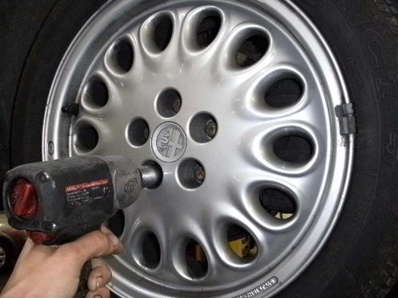 <p>Remove road wheel, remember that you need to make sure the vehicle is securly supported and if you haven't got a nut gun you will need to loosen the wheel nuts on the floor