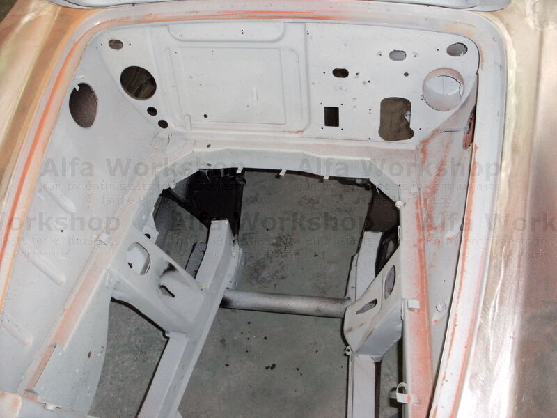 <p>Everything has been removed from the car and treated with hot Zinc spray to protect it.