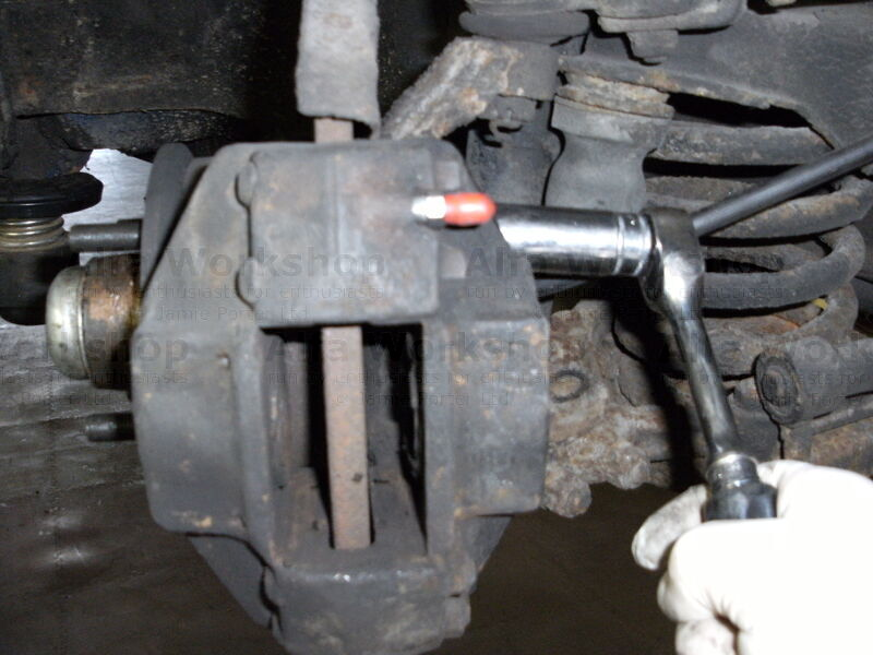 <p>If you are changing the disks, undo the caliper retaining bolts