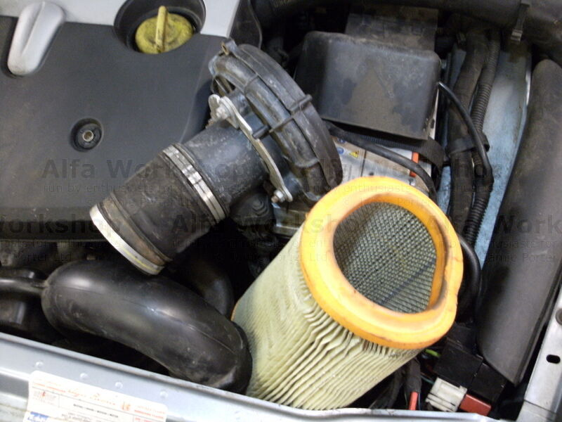 <p>Remove the Air filter and replace with a new one. Then reverse the procedure to refit the new air filter.