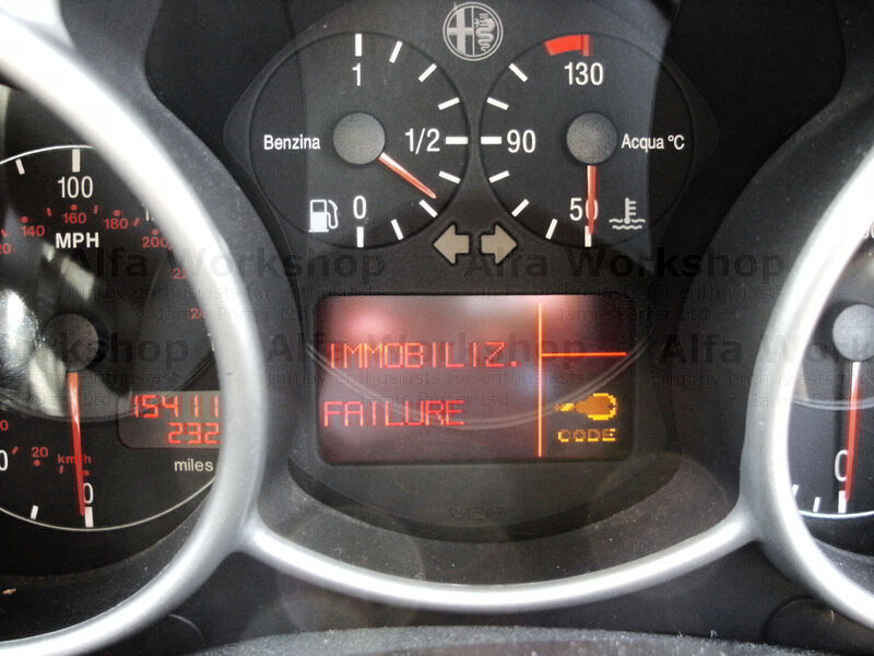 <p>The immobiliser system has activated the car wont start, it is not worth trying to turn the engine over as it wont start until the problem has been cured.