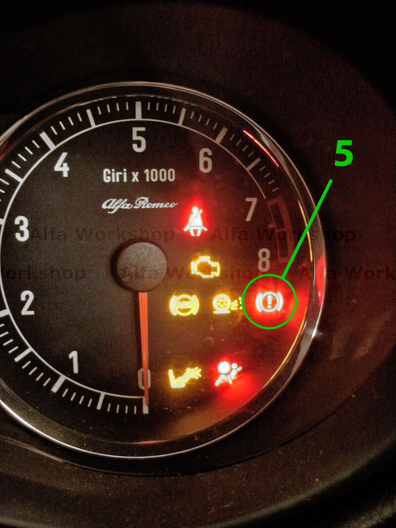 <p>This warning light has three different functions, the hand brake could be on, the front brake brake pads may be worn or you could be low on brake fluid. Remember that the brake fluid reservoir also feeds the clutch operating system.