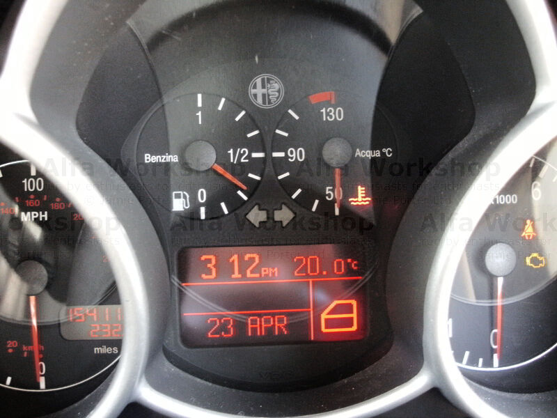 <p>Your engine is overheating switch off immediately and allow the engine to cool. DO NOT remove the coolant tank top until the engine has cooled down as the water will be above boiling point. Locate reason for overheating and cure (warning symbol shown on a 147)