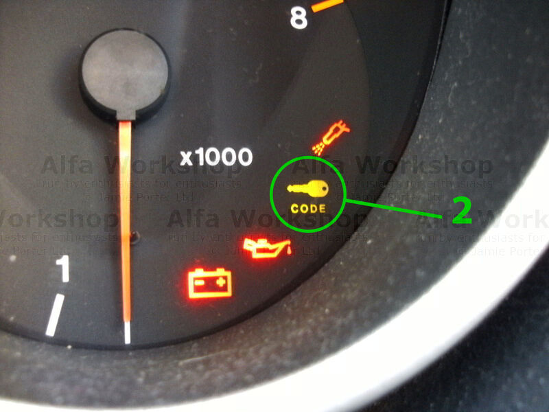 <p>If the key code light stays on there is a fault with the immobiliser system or the car doesn't recognise the key and the car will not start.