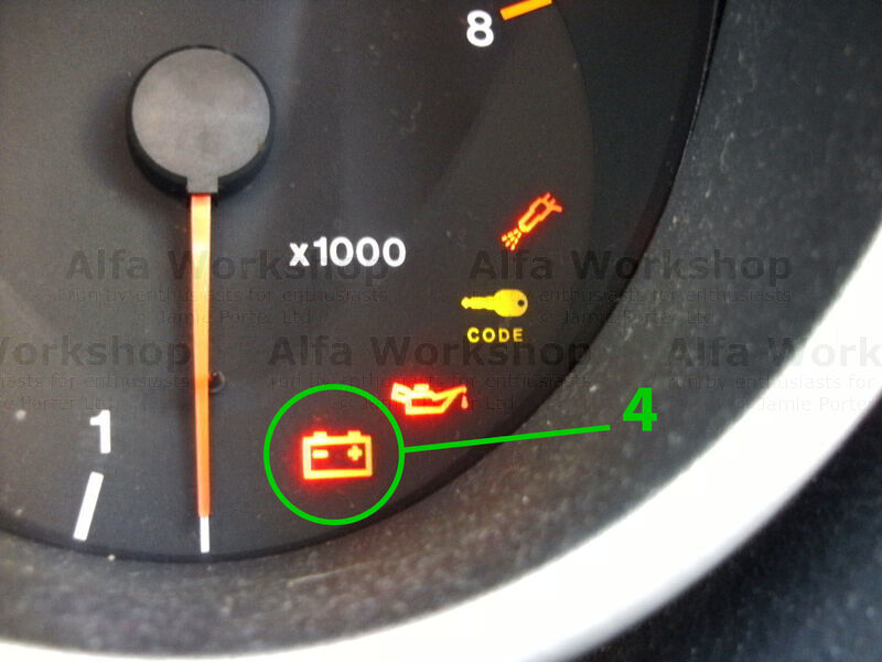 <p>Charging light, this does not mean you have a flat battery! If this light is on it almost certainly means you have a problem with the alternator and your car is not charging.
