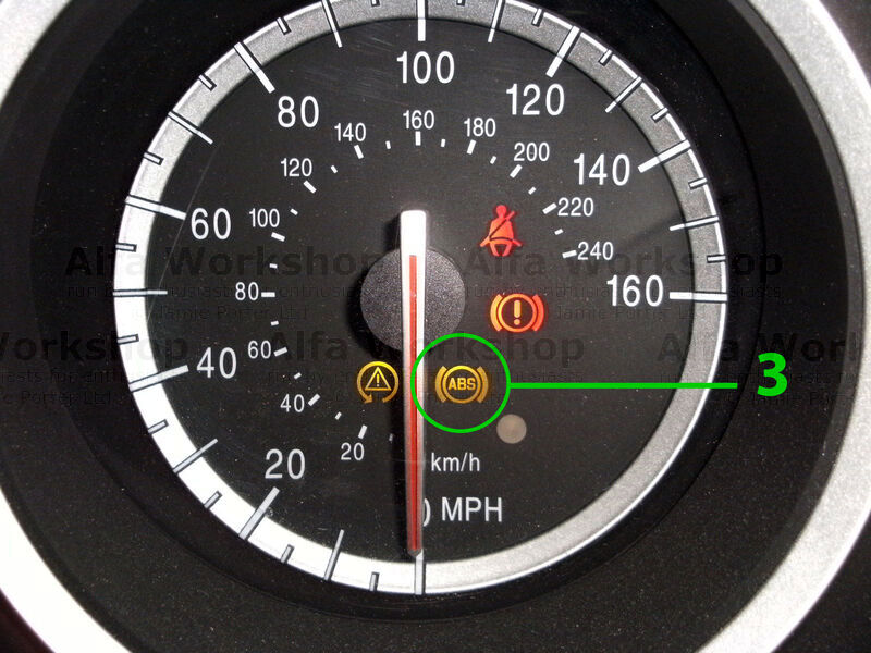 <p>You have a fault on the anti lock braking system (ABS) the system has turned itself OFF! Usually this is a fault with one of the sensors but it can also be a problem with the control unit or the wiring as well.