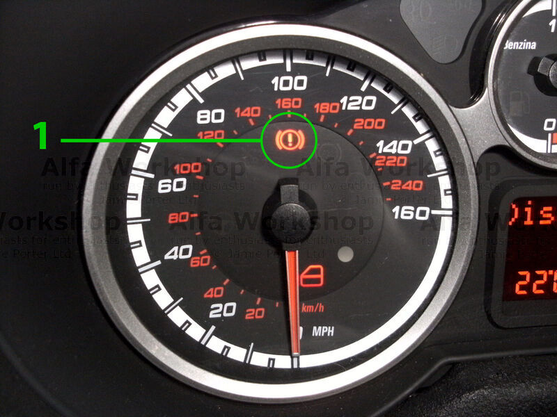 <p>This is the brake fluid level warning indicator, the brake fluid reservoir also feeds the clutch hydraulics.