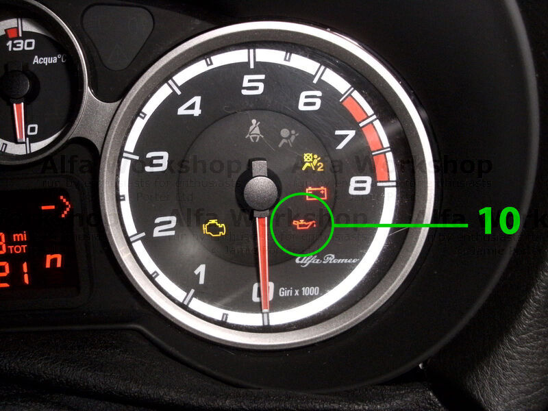 <p>Oil pressure warning light if this light comes on solidly switch your engine off immediately and check your oil level, top up as required.