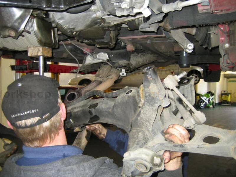 <p>Undo the bolts that secure the subframe to the body and then remove the bolts that secure the steering rack to the sub frame, then remove the subframe leaving the steering rack in place.