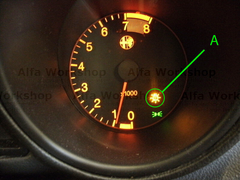 <p>If this light comes on the dash of your Alfa 156 your will either have a side light out or a number plate light out, this is a guide to replacing the number plate light bulb.