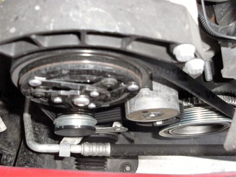<p>Replace accessory drive belt
