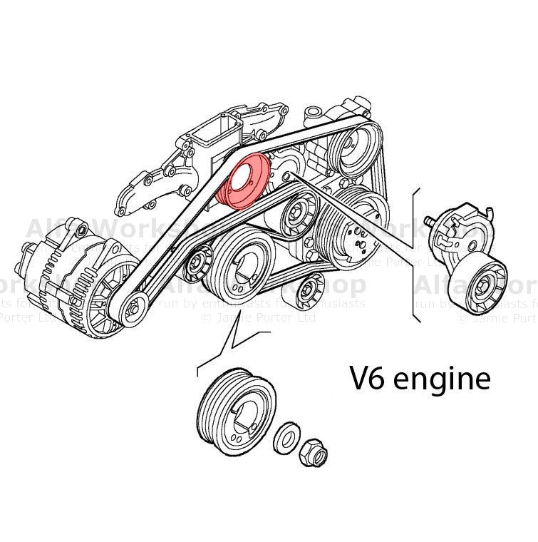 2005 in addition 2004 Nissan Altima Serpentine Belt Diagram together with 1999 furthermore 156 Pulley moreover 2003. on serpentine belt diagram