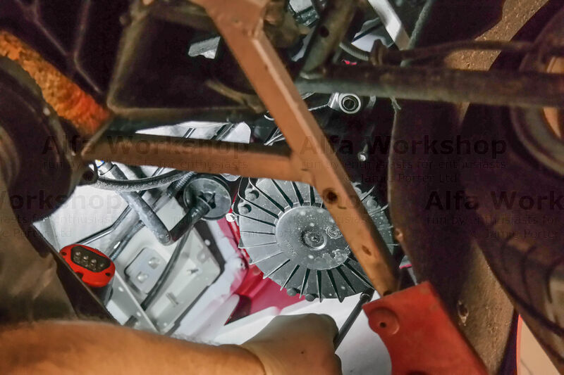 <p>The air filter box is located infront of the rear right hand wheel. Undo the three 7mm bolts at the bottom of the housing.