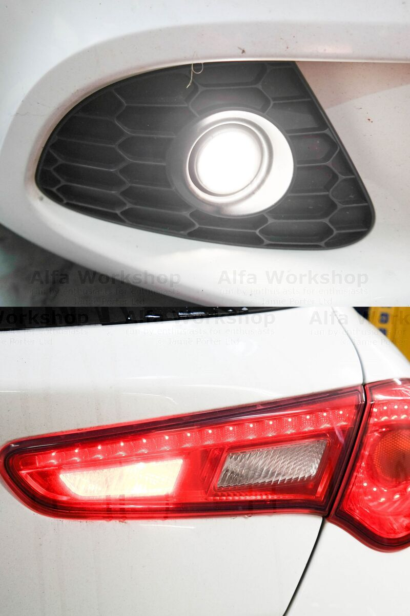 <p>Fog lights (front and rear)