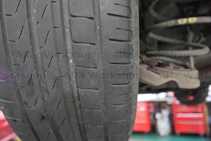 <p>After the tyre's been checked for debris, cuts and bulges run your hand along the inner and outer edge to check for stepping, it should feel even/smooth and not jagged.