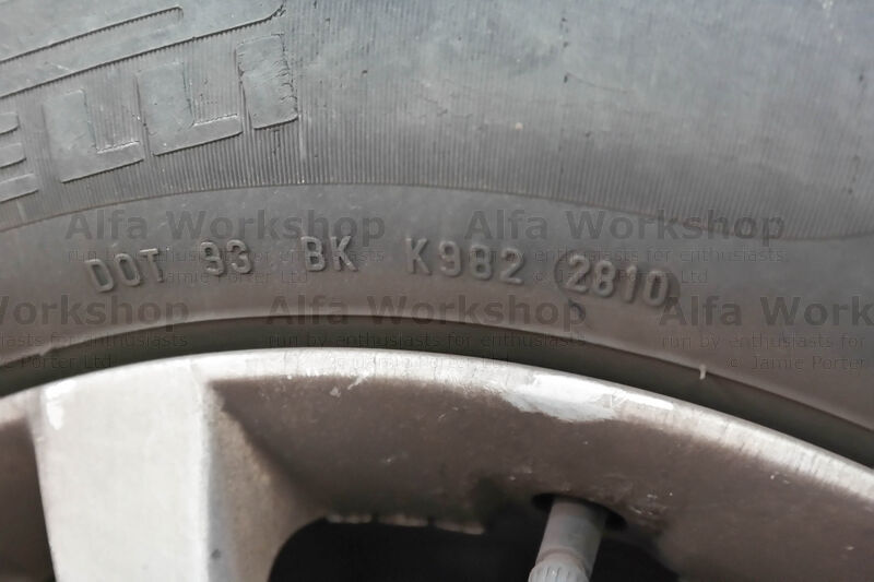 <p>The 2810 number shown on the side wall is when this tyre was made, the 28th week of the year 2010.