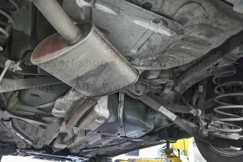 <p>Check the under carriage for rust/corrosion/holes, splits in the handbrake cables, holes in the exhaust and that the hangers are still in tact.