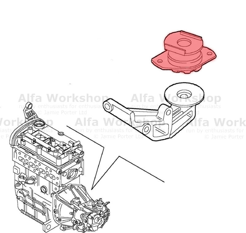 alfa romeo engine mount