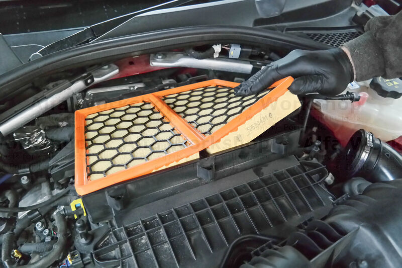 <p>...and remove the old air filter.