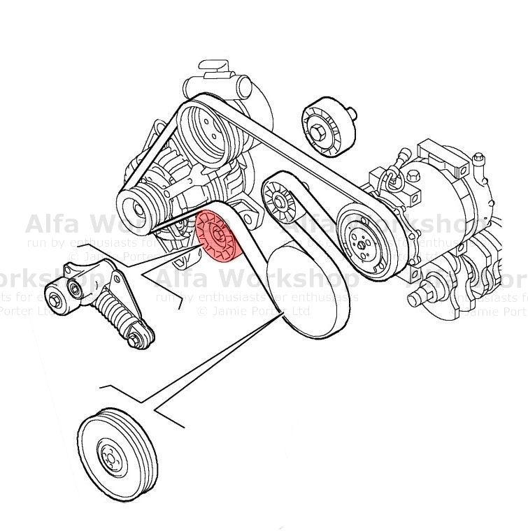 Alfa       Romeo       156    Auxiliary tensioneridler