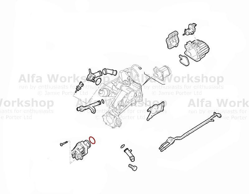 2.0 JTDM EGR Valve Alfa Romeo Giulietta 2010-2018 1.6 JTDM Emission Systems Car Parts