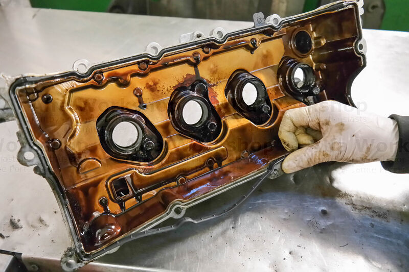 <p>Replace the rocker cover gasket.