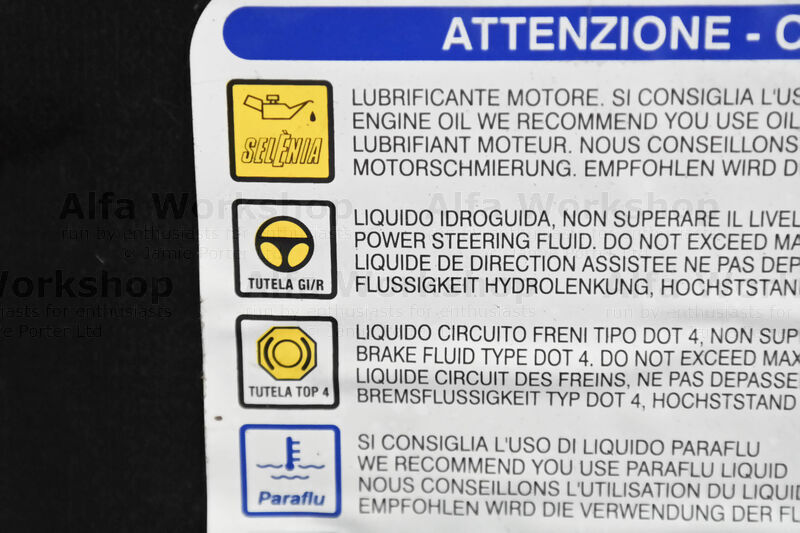 <p>The type of power steering oil for your vehicle is listed on a sticker on the under side of the engine bonnet.
